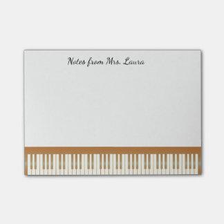 De vintage Muziek van het Toetsenbord van de Piano Post-it® Notes