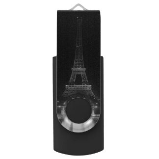 De vintage nacht van Eiffel van de Toren van