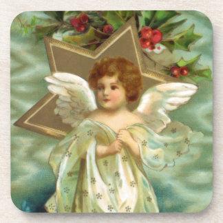 De vintage Onderzetters van de Engel van Kerstmis