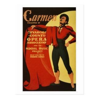 De vintage Opera en het Ballet van Trambestuurders Briefkaart