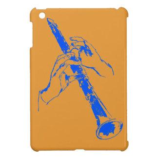 De vintage Oranje Blauwe Klarinet Benny Goodman Hoesje Voor iPad Mini