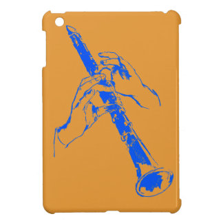 De vintage Oranje Blauwe Klarinet Benny Goodman iPad Mini Covers