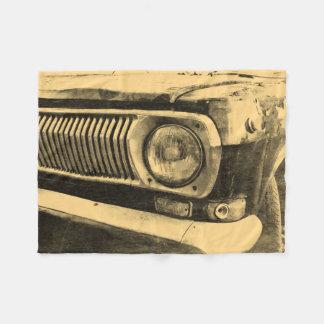 De vintage Oude Klassieke Koplamp van de Auto Fleece Deken