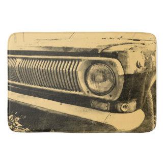 De vintage Oude Klassieke Koplampen van de Auto Badmatten
