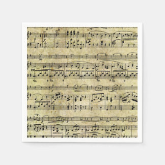 De vintage Oude Muziek neemt nota van de Textuur Wegwerp Servetten