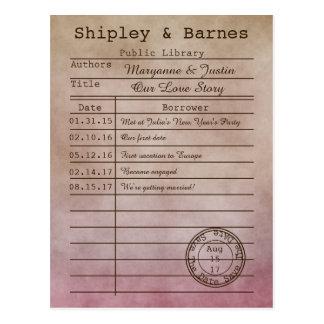 De vintage Paarse Beige Kaart van de Bibliotheek