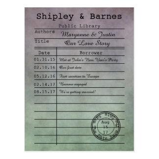 De vintage Paarse Groene Kaart van de Bibliotheek