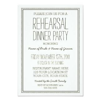 De vintage Partij van het Diner van de Repetitie 12,7x17,8 Uitnodiging Kaart