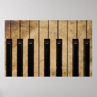 De vintage piano van Grunge Poster
