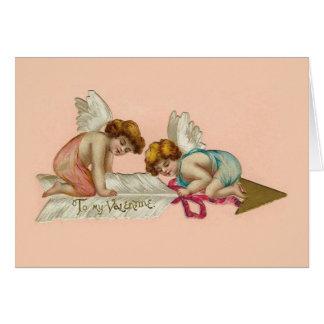 De vintage Pijl van de Cherubijnen van Valentijn Kaart