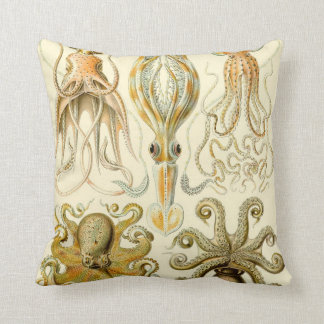 De vintage Pijlinktvis Gamochonia van de Octopus Sierkussen