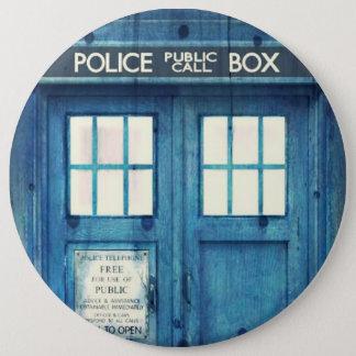 De vintage Politie telefoneert Openbare Ronde Button 6,0 Cm