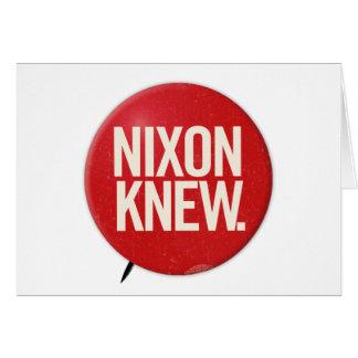De vintage Politieke Knoop Nixon van Richard Nixon Kaart