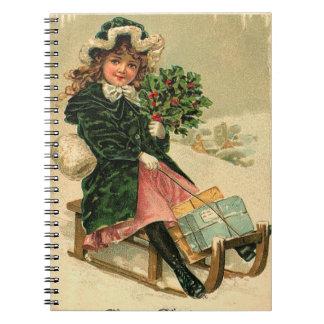 De vintage Pret van de Winter Notitieboek