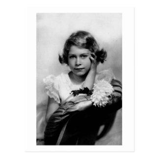De vintage Prinses Elizabeth van de foto Briefkaart