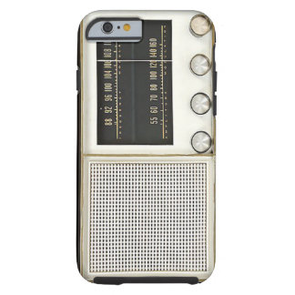 De vintage Radio van het Metaal Tough iPhone 6 Hoesje