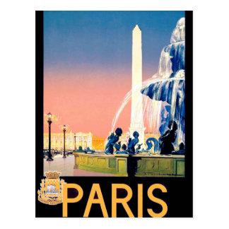 De vintage Reclame van de Reis van Parijs Briefkaart