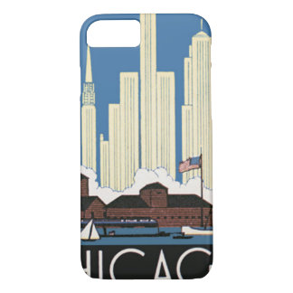 De vintage Reis Chicago heeft alles de Horizon van iPhone 8/7 Hoesje