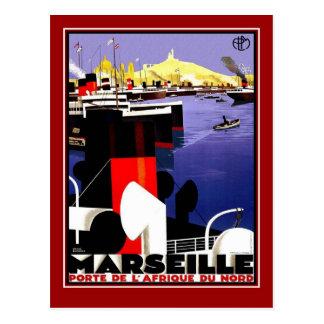 De Vintage Reis Marseille van het briefkaart