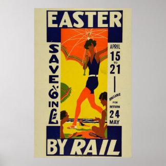 De vintage Reis Pasen van de Vakantie van Nieuw Poster