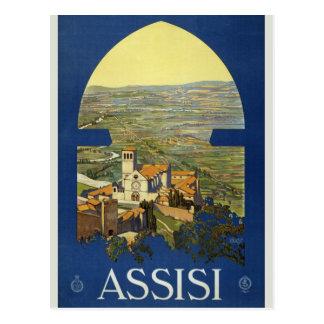 De vintage Reis van Assisi Briefkaart