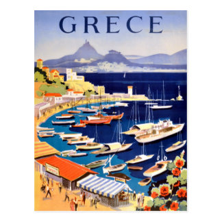 De vintage Reis van Athene Griekenland Briefkaart
