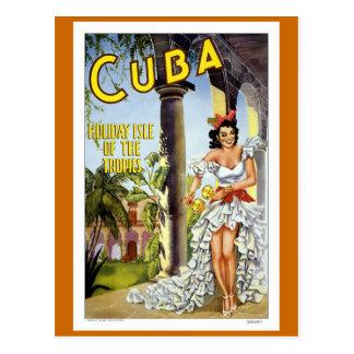 De Vintage Reis van Cuba Briefkaart