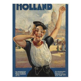 De vintage Reis van de Lucht van Holland Briefkaart