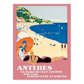 De vintage Reis van de Vakantie van het Strand van Briefkaart