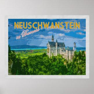 De Vintage Reis van Duitsland van het Kasteel van Poster