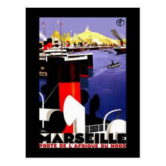 De Vintage Reis van Marseille, Frankrijk Briefkaart