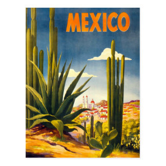 De vintage Reis van Mexico Briefkaart
