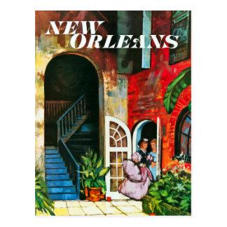 De vintage Reis van New Orleans Briefkaart