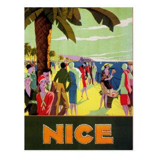 De vintage reis van Nice Briefkaart