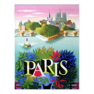 De vintage Reis van Parijs Frankrijk Briefkaart