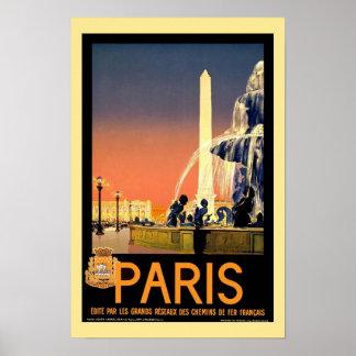 De Vintage Reis van Parijs Poster