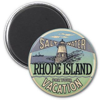De Vintage Reis van Rhode Island Magneet