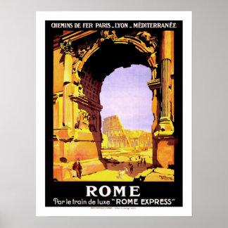 De Vintage Reis van Rome Poster