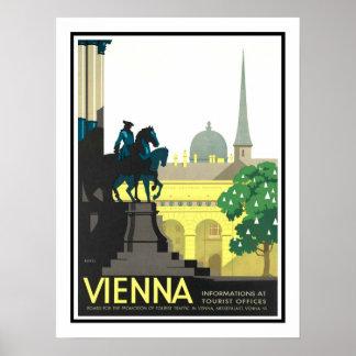 De Vintage Reis van Wenen Poster