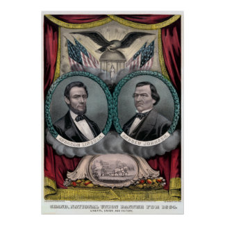 De vintage Republikeinse Presidentiële Verkiezing Poster