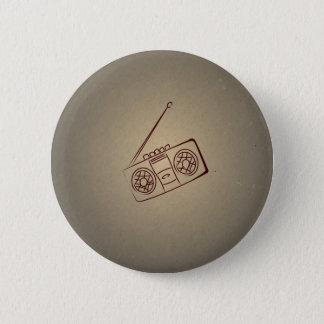 De vintage Retro AudioSpeler van de Cassette. Ronde Button 5,7 Cm