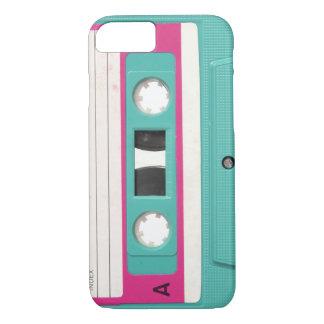 De vintage Retro Blauwgroen AudioBand van de iPhone 8/7 Hoesje