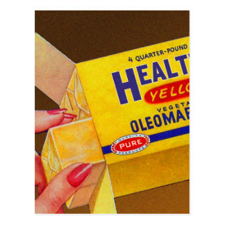 De vintage Retro Boter van de Margarine van Briefkaart