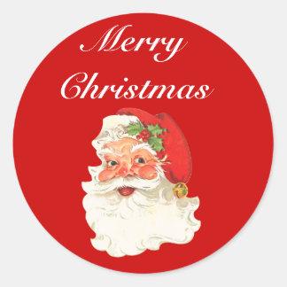 De vintage Retro Groeten van Kerstmis van de Ronde Sticker