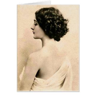 De vintage Retro Jonge Vrouw van de Fotografie van