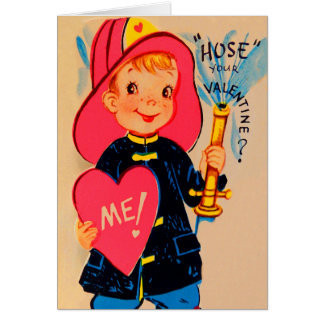 De vintage Retro Kaart van Valentijn van de