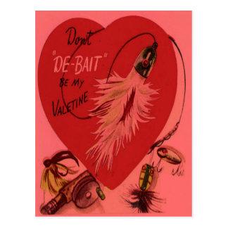 De vintage Retro Kaart van Valentijn van het