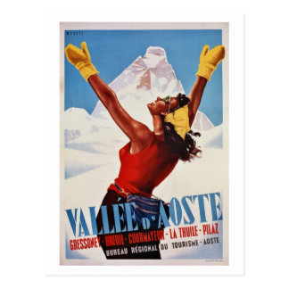 De vintage retro reis van de winter Italiaanse Briefkaart