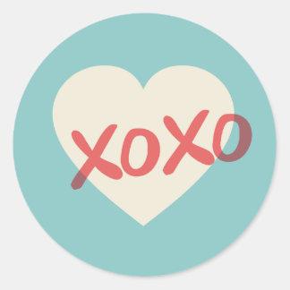 De vintage Retro Sticker van de Valentijnsdag van
