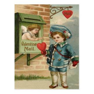 De vintage Retro Victoriaans Cupido Valentijn C Briefkaart